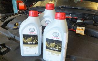 Замена масла в двигателе тойота дизель