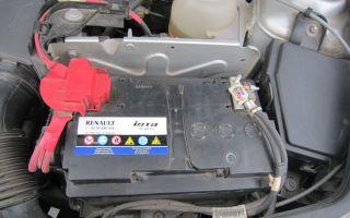 Аккумулятор рено логан 1.6 8 клапанов