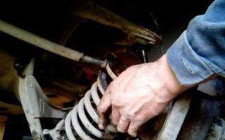 Как поменять задние пружины на ваз 2107