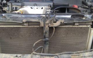 Как снять радиатор на камри 30