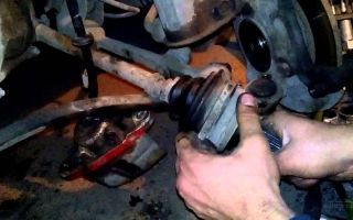 Как заменить наружный шрус на ваз 2109