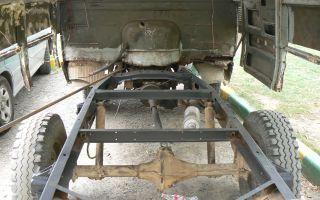 Как снять кузов с рамы уаз буханка