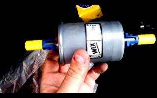 Замена топливного фильтра опель астра g видео