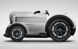 Porsche comically envision a e e e tractor for the farming e…