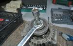 Как поменять подшипник на генераторе рено логан