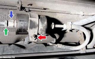 Замена фильтра тонкой очистки топлива ваз 2112