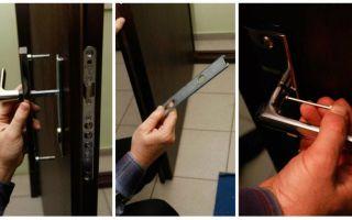 Как поменять ручку на входной металлической двери