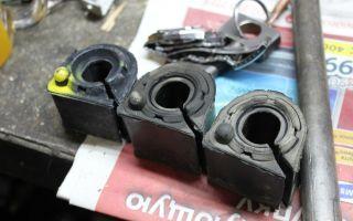 Замена передних втулок стабилизатора форд фокус 2