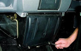Как снять радиатор печки газель