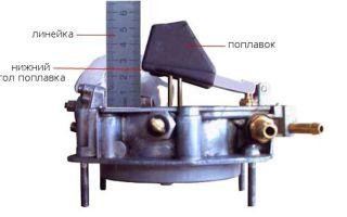 Как установить уровень топлива в карбюраторе солекс