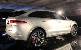 Новый svg jaguar f-pace, открытый с 542bhp