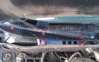 Замена салонного фильтра калина 2 с кондиционером