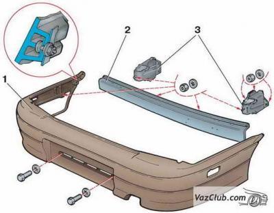 Как снять задний бампер на ВАЗ 2114 - практическая инструкция