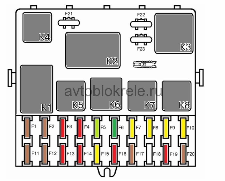 Схема блока предохранителей ваз 2110 инжектор фото 547